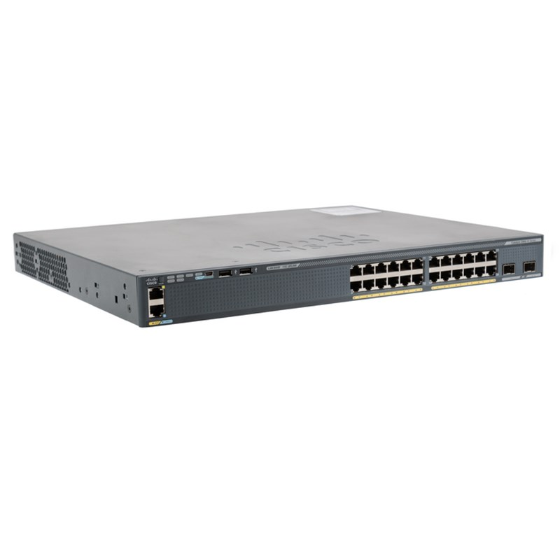 Cisco Catalyst 2960X 24 port GigE PoE Switch WS-C2960X-24PD-L